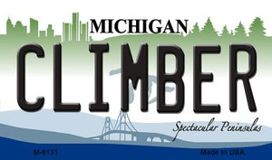 Climber Michigan State License Plate Novelty Wholesale Magnet M-6131