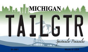 Tailgtr Michigan State License Plate Novelty Wholesale Magnet M-3681