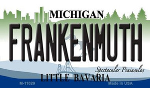 Frankenmuth Michigan State License Plate Novelty Wholesale Magnet M-11029
