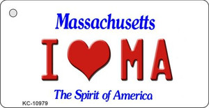 I Love MA Massachusetts State License Plate Wholesale Key Chain KC-10979