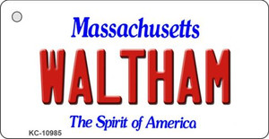 Waltham Massachusetts State License Plate Wholesale Key Chain KC-10985