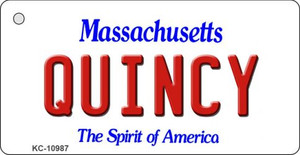 Quincy Massachusetts State License Plate Wholesale Key Chain KC-10987
