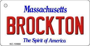Brockton Massachusetts State License Plate Wholesale Key Chain KC-10988