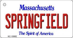 Springfield Massachusetts State License Plate Wholesale Key Chain KC-10992
