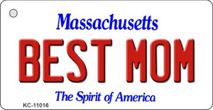 Best Mom Massachusetts State License Plate Wholesale Key Chain KC-11016
