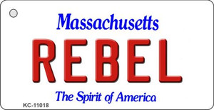 Rebel Massachusetts State License Plate Wholesale Key Chain KC-11018