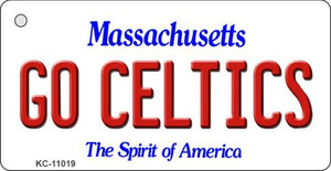 Go Celtics Massachusetts State License Plate Wholesale Key Chain KC-11019