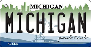Michigan State License Plate Novelty Wholesale Key Chain KC-6105