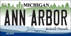 Ann Arbor Michigan State License Plate Novelty Wholesale Key Chain KC-6110