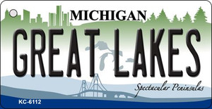 Great Lakes Michigan State License Plate Novelty Wholesale Key Chain KC-6112