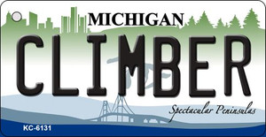 Climber Michigan State License Plate Novelty Wholesale Key Chain KC-6131