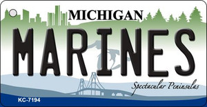Marines Michigan State License Plate Novelty Wholesale Key Chain KC-7914