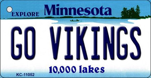 Go Vikings Minnesota State License Plate Novelty Wholesale Key Chain KC-11052