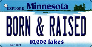 Born and Raised Minnesota State License Plate Novelty Wholesale Key Chain