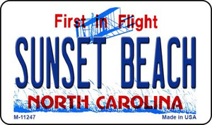 Sunset Beach North Carolina State Background Novelty Wholesale Magnet