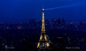 Eiffel Tower - Night With City Skyline Novelty Wholesale Magnet M-11250