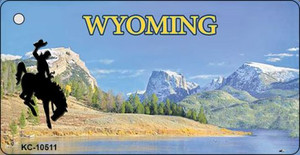 Wyoming Blank State License Plate Wholesale Key Chain