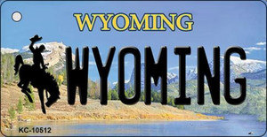 Wyoming State License Plate Wholesale Key Chain