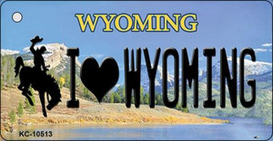 I Love Wyoming State License Plate Wholesale Key Chain