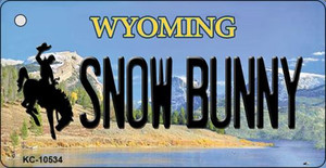Snow Bunny Wyoming State License Plate Wholesale Key Chain
