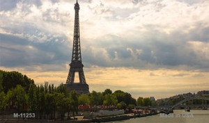 Eiffel Tower - Day Overlooking Water Novelty Wholesale Magnet M-11253