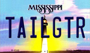 Tailgtr Mississippi State License Plate Wholesale Magnet M-6549