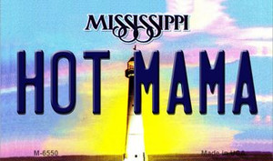 Hot Mama Mississippi State License Plate Wholesale Magnet M-6550