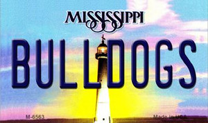 Bulldogs Mississippi State License Plate Wholesale Magnet M-6563