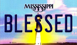 Blessed Mississippi State License Plate Wholesale Magnet M-6571