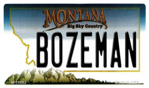 Bozeman Montana State License Plate Novelty Wholesale Magnet M-11092