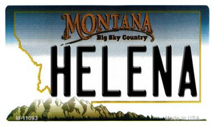 Helena Montana State License Plate Novelty Wholesale Magnet M-11093