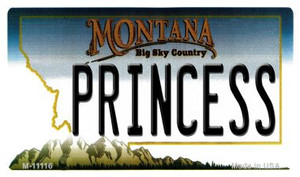 Princess Montana State License Plate Novelty Wholesale Magnet M-11116