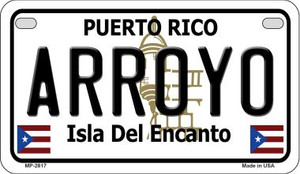Arroyo Puerto Rico State Wholesale Motorcycle License Plate MP-2817