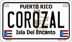 Corozal Puerto Rico State Wholesale Motorcycle License Plate MP-2833