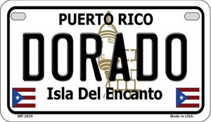 Dorado Puerto Rico State Wholesale Motorcycle License Plate MP-2835