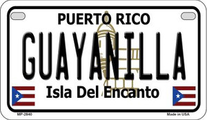 Guayanilla Puerto Rico State Wholesale Motorcycle License Plate MP-2840