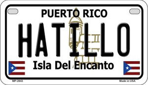 Hatillo Puerto Rico State Wholesale Motorcycle License Plate MP-2843