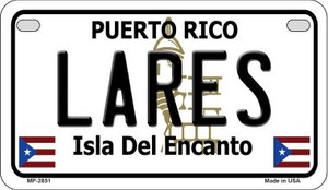 Lares Puerto Rico State Wholesale Motorcycle License Plate MP-2851