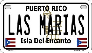 Las Marias Puerto Rico State Wholesale Motorcycle License Plate MP-2852