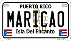 Maricao Puerto Rico State Wholesale Motorcycle License Plate MP-2857
