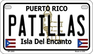 Patillas Puerto Rico State Wholesale Motorcycle License Plate MP-2865