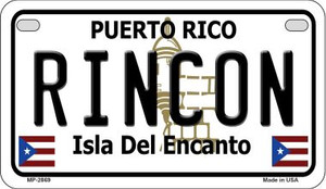 Rincon Puerto Rico State Wholesale Motorcycle License Plate MP-2869