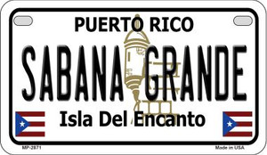 Sabana Grande Puerto Rico State Wholesale Motorcycle License Plate MP-2871