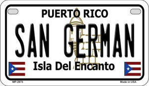 San German Puerto Rico State Wholesale Motorcycle License Plate MP-2873