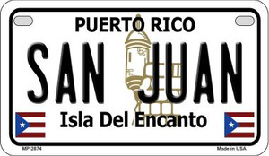 San Juan Puerto Rico State Wholesale Motorcycle License Plate MP-2874