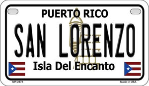 San Lorenzo Puerto Rico State Wholesale Motorcycle License Plate MP-2875