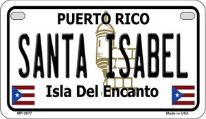 Santa Isabel Puerto Rico State Wholesale Motorcycle License Plate MP-2877