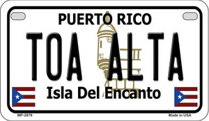 Toa Alta Puerto Rico State Wholesale Motorcycle License Plate MP-2878