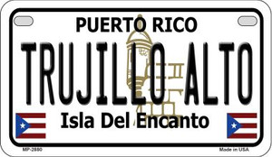 Trujillo Alto Puerto Rico State Wholesale Motorcycle License Plate MP-2880