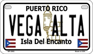 Vega Alta Puerto Rico State Wholesale Motorcycle License Plate MP-2882
